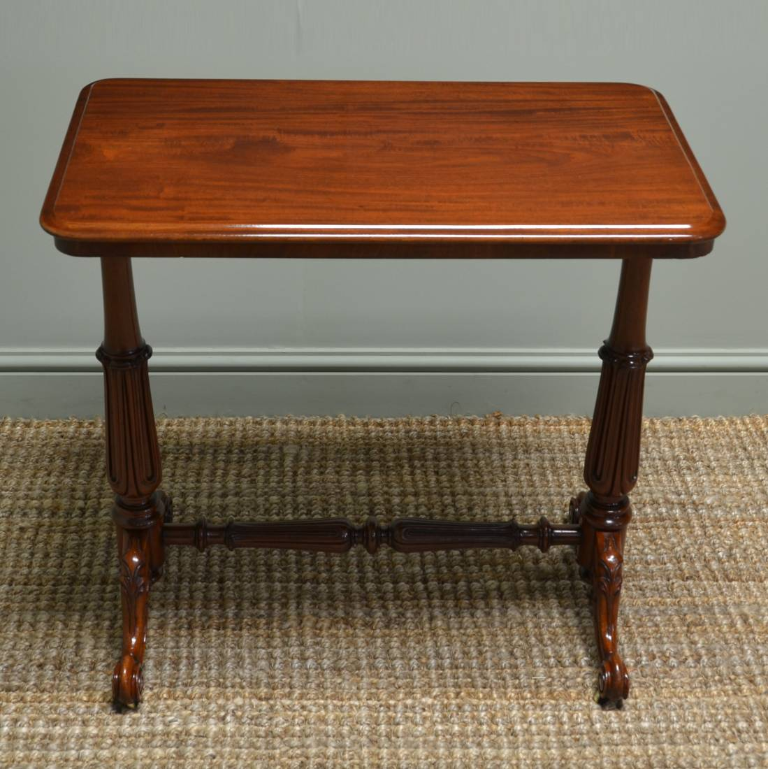 Victorian Figured Mahogany Antique Side Table