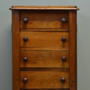 Unusual Victorian Mahogany Antique Wellington Chest
