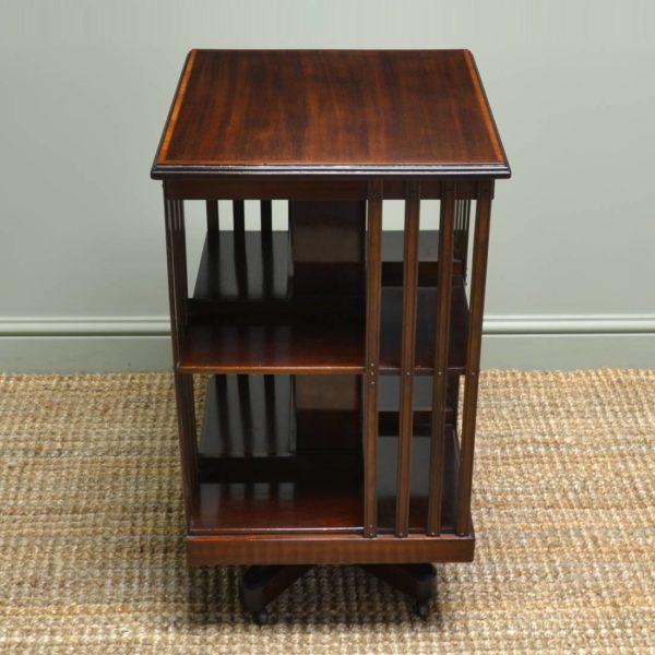 Beautiful Edwardian Antique Mahogany Revolving Bookcase