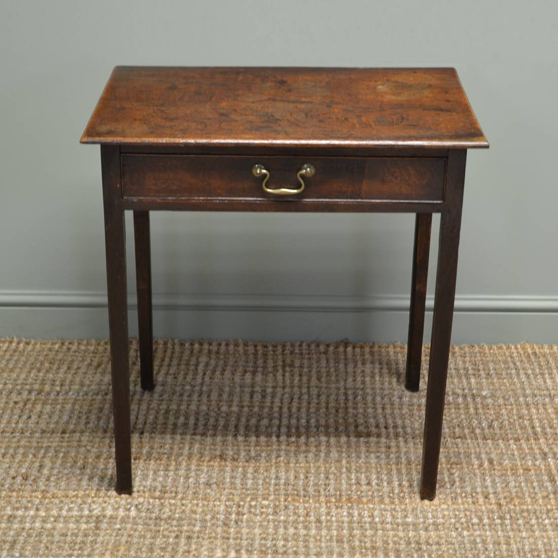 Small Georgian Country Oak Antique Side Table Antiques World