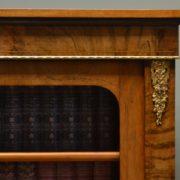 Fine Quality Figured Walnut Antique Victorian Pier Cabinet