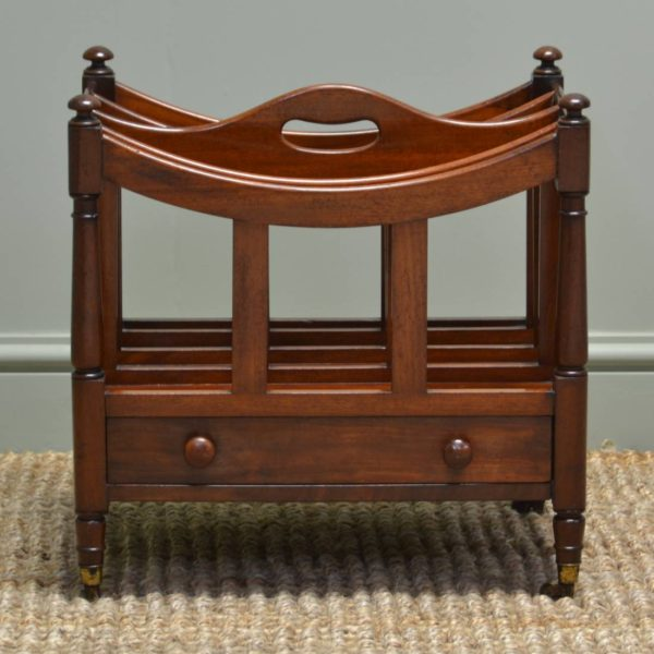 Quality Small Mahogany Victorian Antique Canterbury