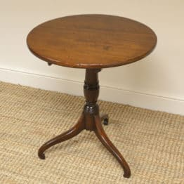 Country Georgian Mahogany Antique Occasional / Wine / Lamp Table