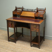 Quality Edwardian Walnut Antique Writing Desk