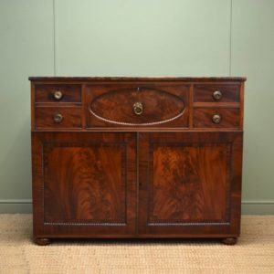 Unusual Scottish Figured Mahogany Antique Secretaire / Chest