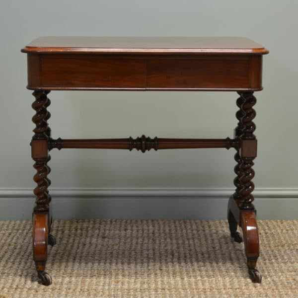Spectacular Lambs of Manchester Victorian Mahogany Antique Side / Writing Table