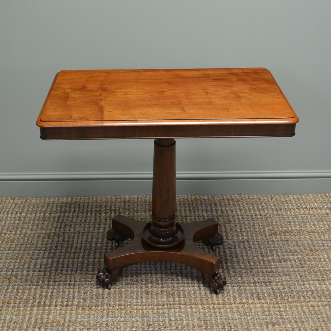 William iv mahogany antique side lamp table antiques for Side and lamp tables