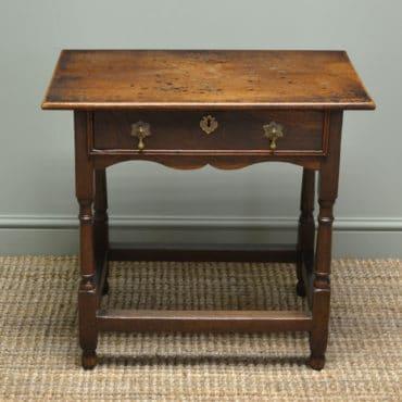 Country Georgian Oak Antique Low Boy / Side Table