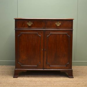 Period Georgian Mahogany Antique Cupboard / Chest