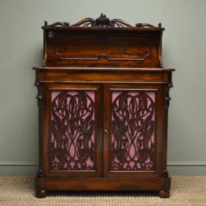 Magnificent Rosewood Scottish William IV Antique Chiffonier