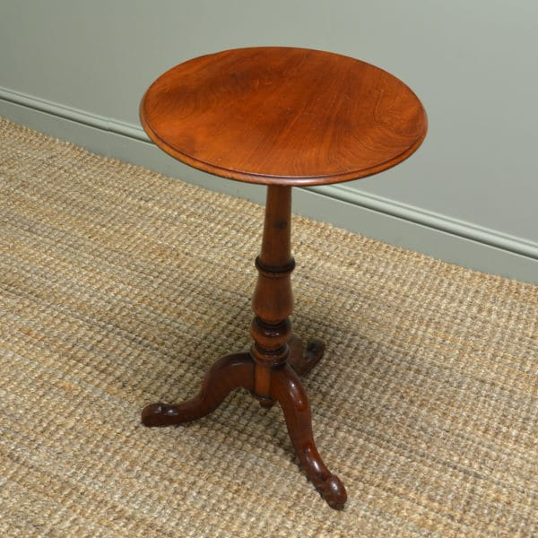 Beautifully Figured Victorian Mahogany Antique Occasional Table By Wylie & Lochhead Glasgow.