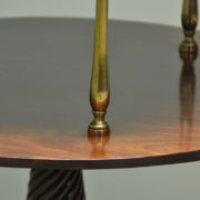 Spectacular Quality Georgian Mahogany Antique Two Tier Occasional Table