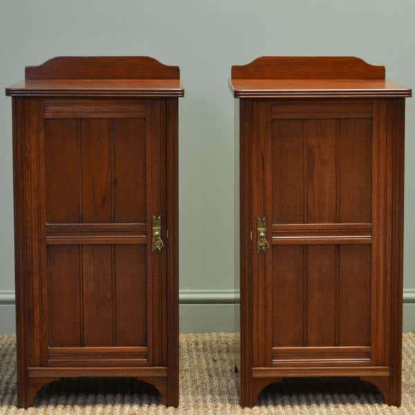 Impressive Victorian Walnut Antique Bedside Cabinets by Morison & Co Edinburgh