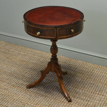 Unusual Victorian Rosewood Small Antique Drum / Occasional Table