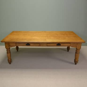 Huge Antique Solid Oak Victorian Antique Kitchen Table
