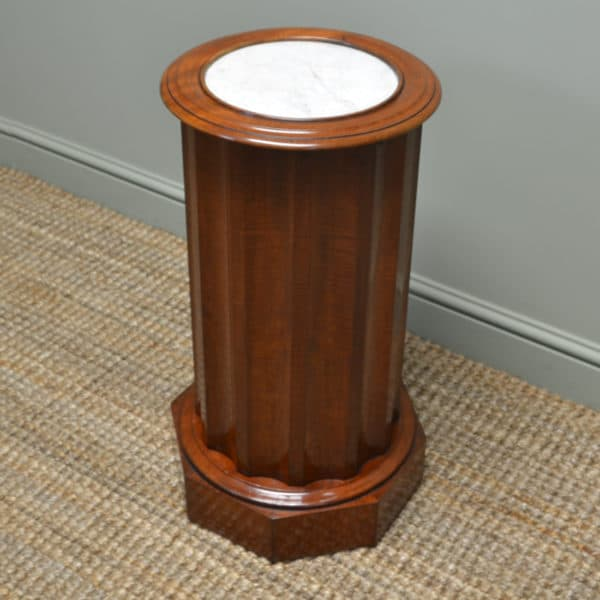 Quality Cylindrical Antique Victorian Fiddle Back Mahogany Cupboard