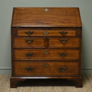 Early Period Georgian Walnut Quality Antique Bureau
