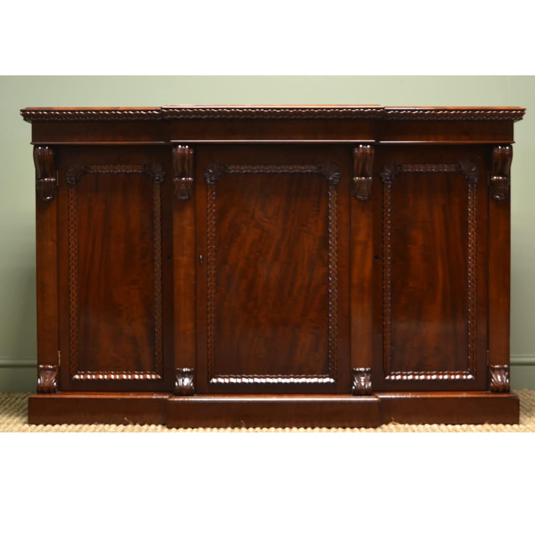 spectacular plum pudding mahogany breakfront william iv antique sideboard antiques world. Black Bedroom Furniture Sets. Home Design Ideas