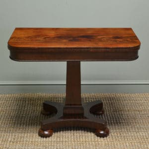 Beautifully Figured Victorian Flamed Mahogany Antique Side / Console / Games Table