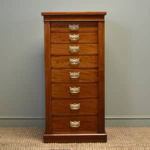 Spectacular Rich Walnut Antique Victorian Wellington Chest