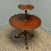 Fine Quality Edwardian Mahogany Two Tier Antique Occasional Table