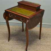 Stunning Maple & Co Edwardian Inlaid Mahogany Antique Writing Table