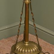 Art Deco Brass Stand Up Lamp with Shade