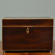 Fine Regency Mahogany Antique Tea Caddy