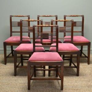 Elegant Set of Six Regency Mahogany Antique Dining Chairs