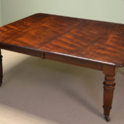 Huge 12ft Figured Mahogany Victorian Antique Dining Table
