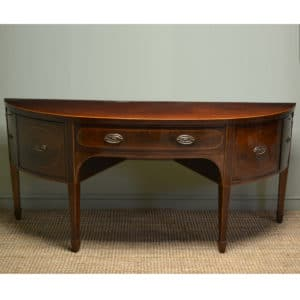 Large Bow Fronted Mahogany Georgian Antique Sideboard