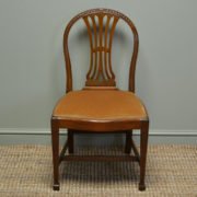 Quality Set of Six Hepplewhite Design Edwardian Walnut Antique Dining Chairs
