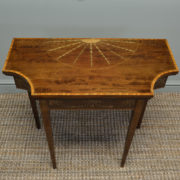 Fine Edwardian Inlaid Mahogany Antique Side / Games Table