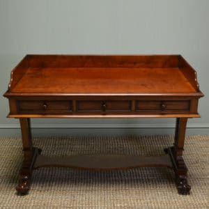 High Quality William IV Mahogany Antique Side / Writing Table