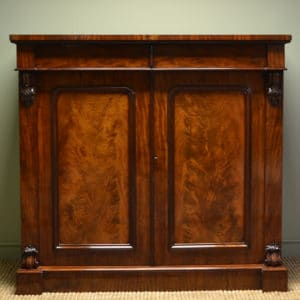 Magnificent Victorian Figured Mahogany Scottish Antique Press / Cupboard