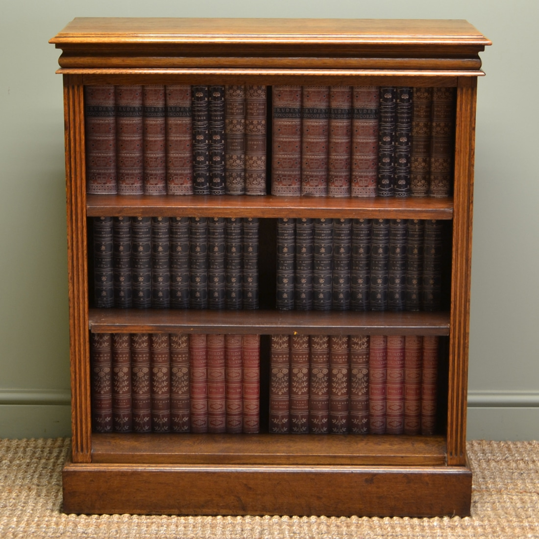 Quality Victorian Oak Antique Open Bookcase Antiques World