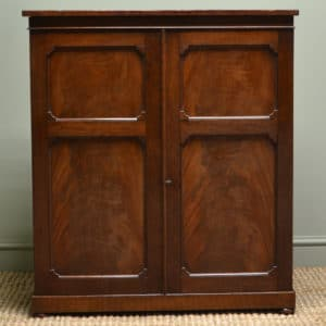 Characterful Regency Antique Figured Mahogany Small Cupboard