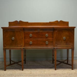Spectacular Waring and Gillows Edwardian Figured Mahogany Antique Sideboard
