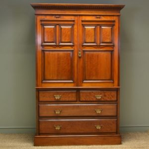 Antique Victorian Linen Press