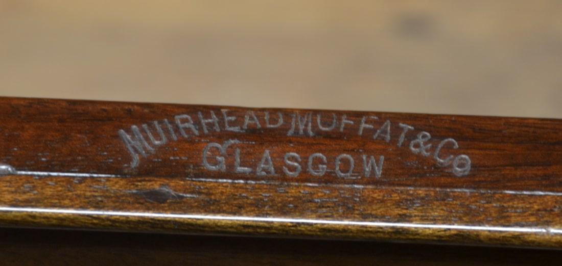 Unique Georgian Figured Walnut Antique Chest Of Drawers By Muirhead Moffat & Co Glasgow.