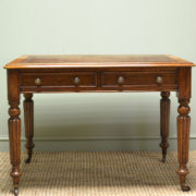 Quality Victorian Oak Antique Library Writing Table