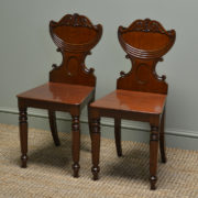 High Quality Pair of Regency Antique Hall / Side Chairs