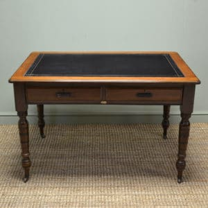 Unusual Victorian Oak and Walnut Writing Desk by Simpoles of Manchester