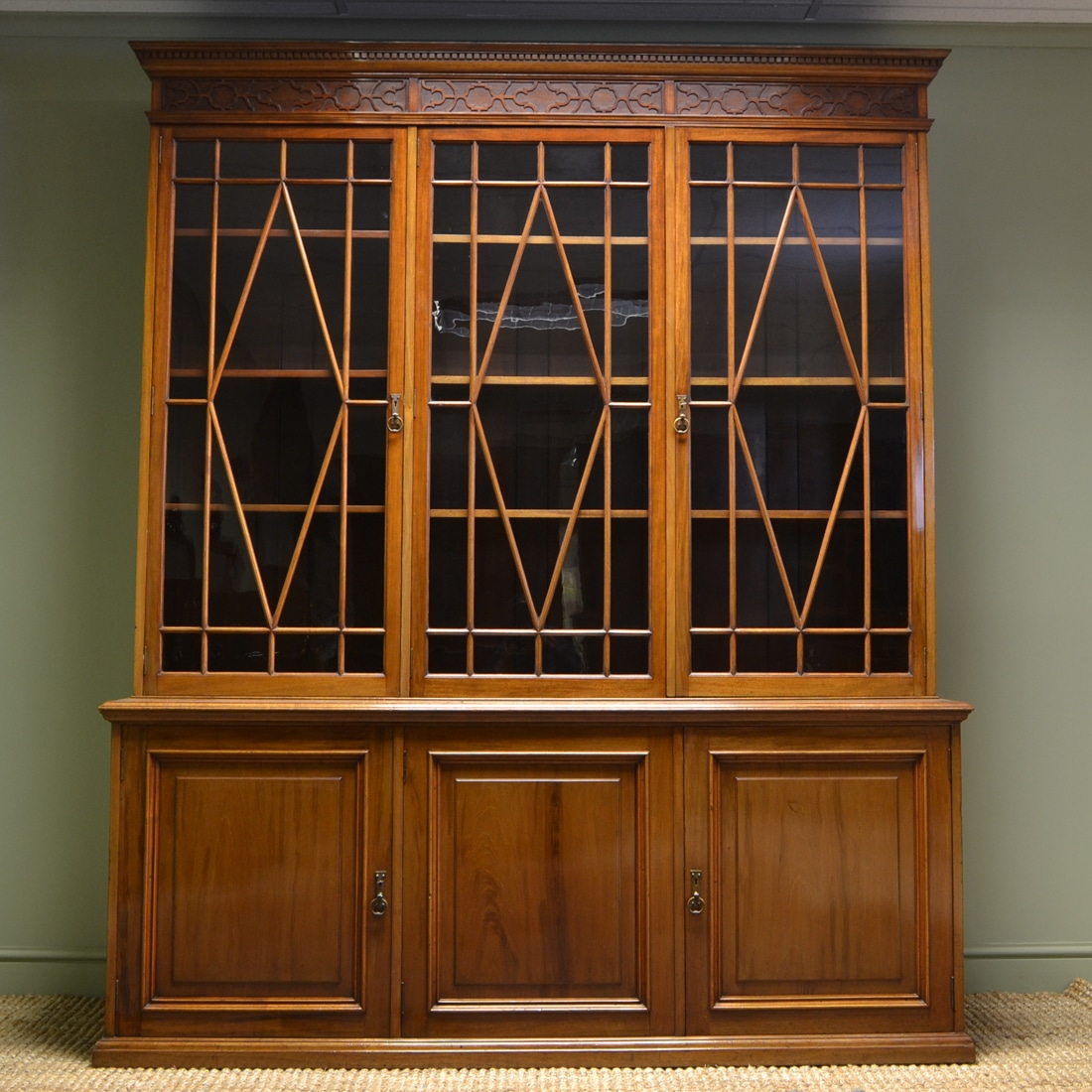 Magnificent Quality Large Victorian Walnut Antique Library