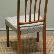 Fine Quality Set Of Six Figured Walnut Edwardian Antique Dining Chairs