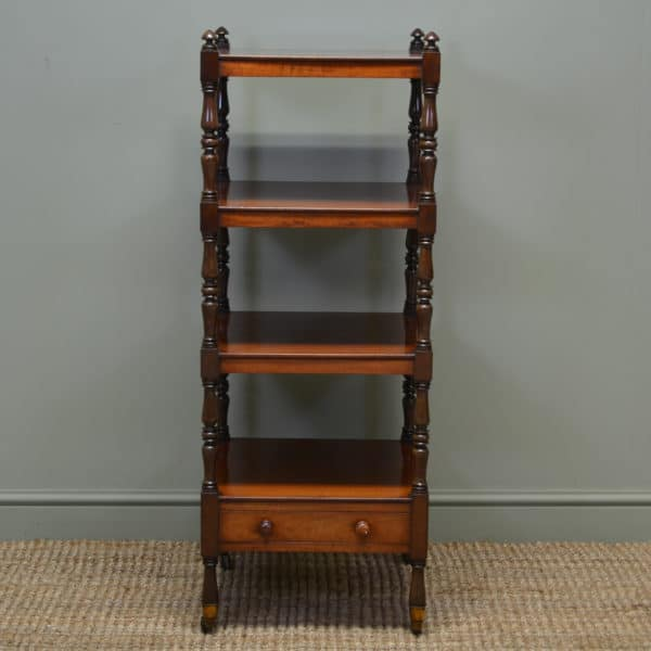 Fine Quality Mahogany Antique Regency Tall What Not / Side Table