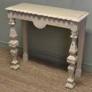 Unusual Painted Arts & Crafts Pitch Pine Antique Console Table