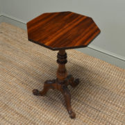 Spectacular Quality Rosewood Antique Victorian Occasional / Lamp Table