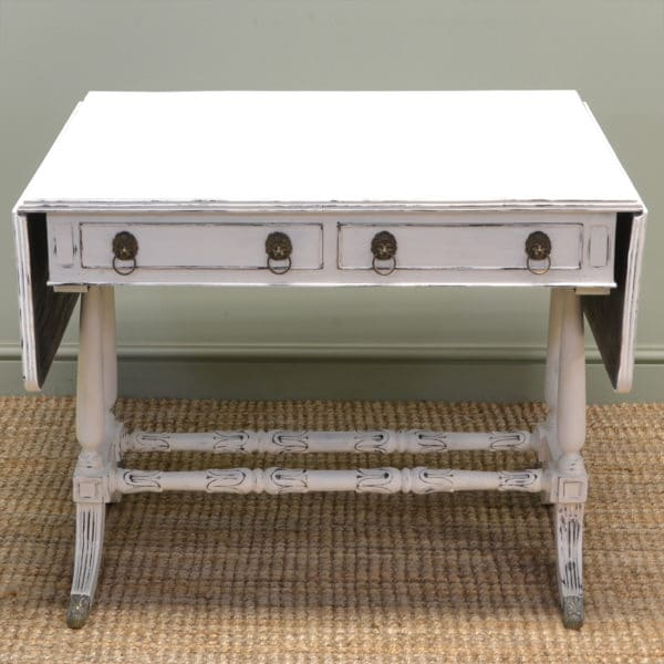 Victorian Painted Antique Sofa Table