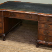 Huge Edwardian Figured Mahogany Antique Office Desk